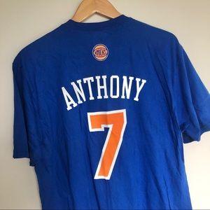 NWT Carmelo Anthony New York Knicks Adidas Shirt